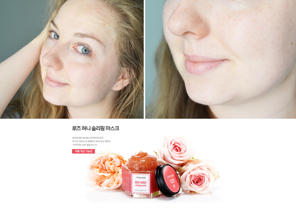 mamonde-rose-honey-sleeping-mask-avant-apres