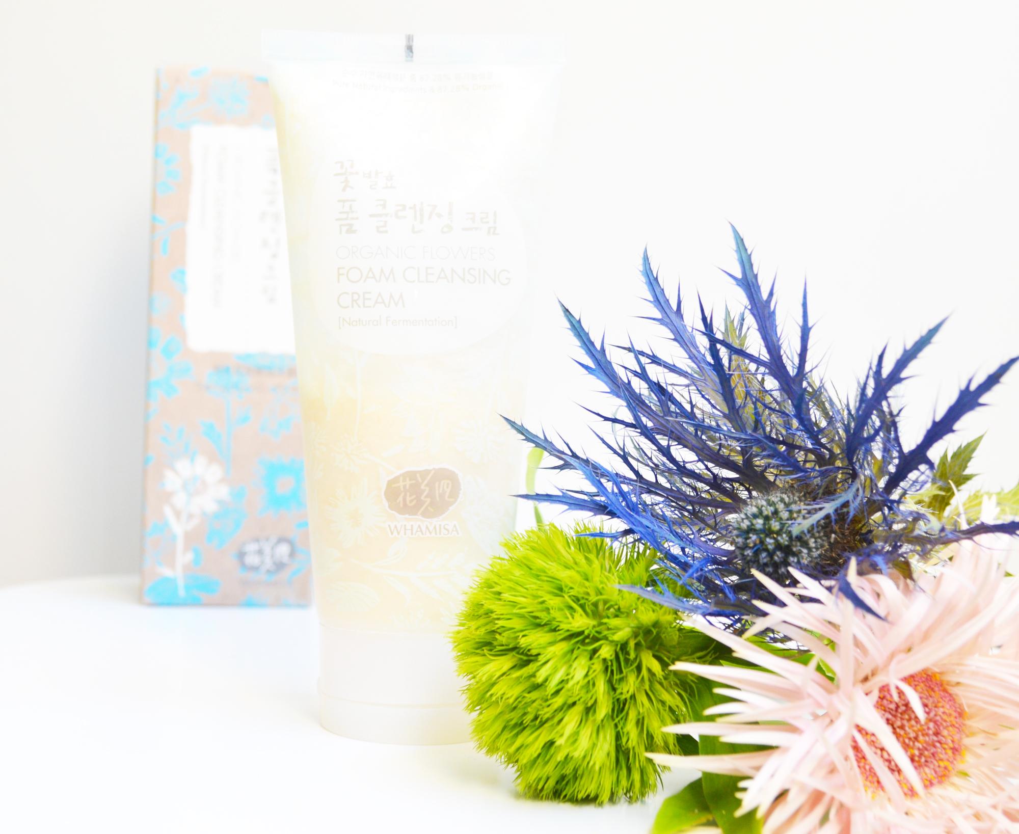 Nettoyant Whamisa Organic Flowers Cleansing Foam Cream : avis et revue