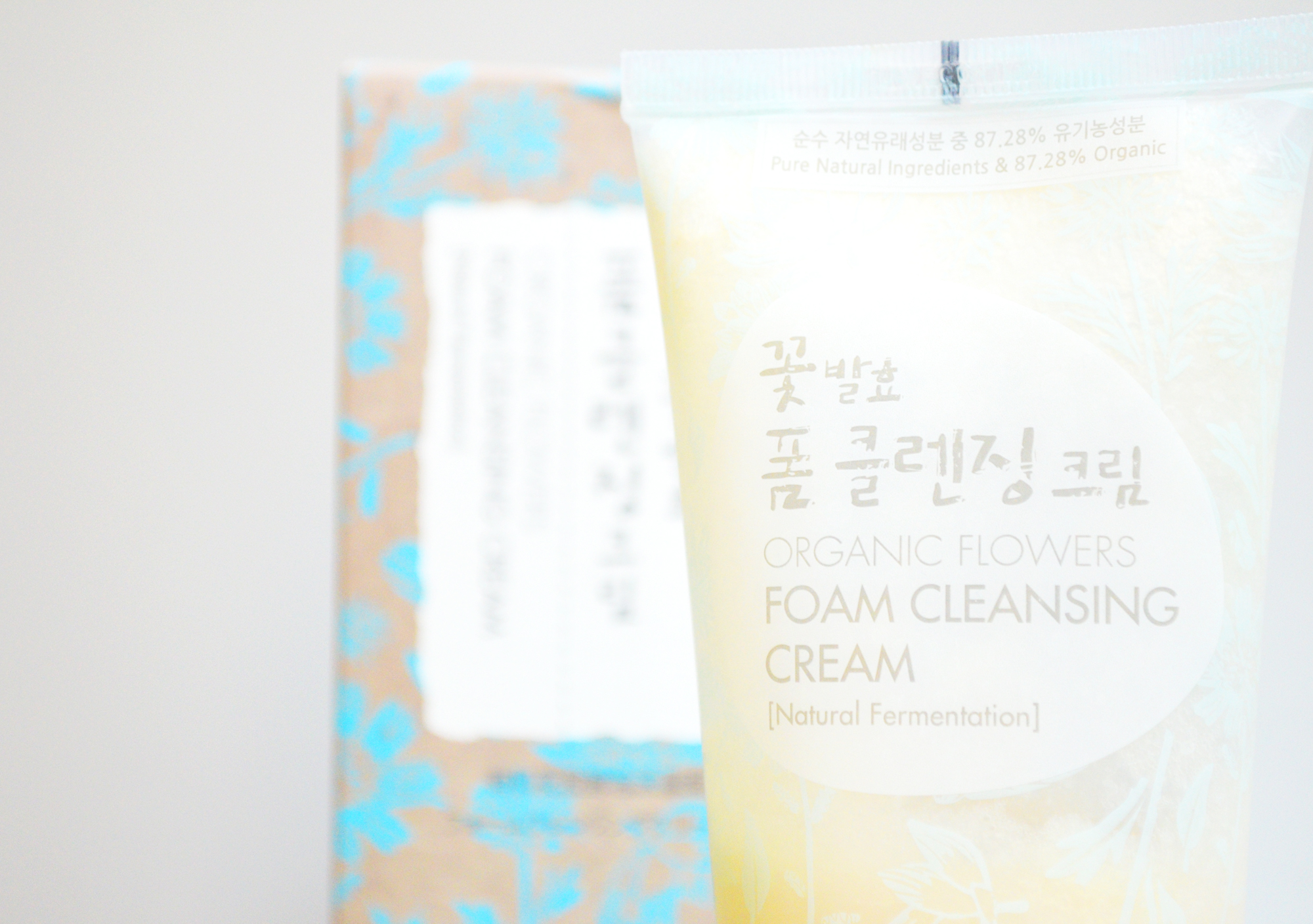 Nettoyant asiatique bio et fermenté Whamisa Organic Flowers Foam Cleansing Cream