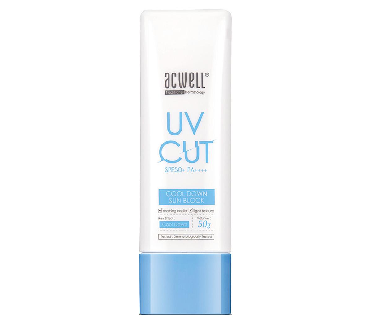 ACWELL-UV-Cut-Cool-Down-Sun-Block-SPF50-creme-solaire-coreenne-avis-revue